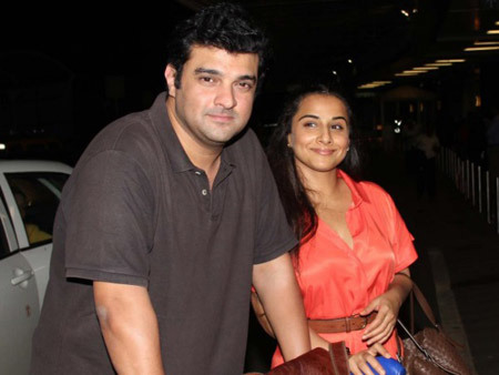 Vidya with her husband Siddharth