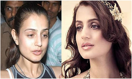 amisha patel no makeup