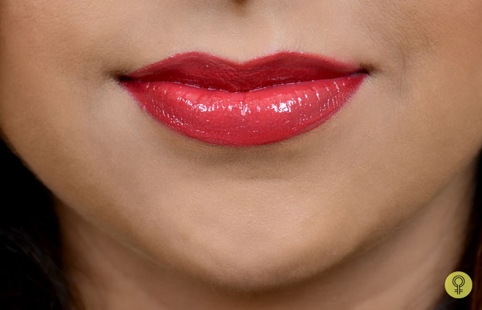 Final Look Of Lips After Applying Lip Gloss