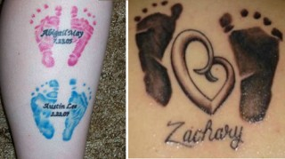 baby footprint design tattoo