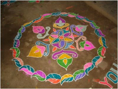beautiful and easy rangoli design
