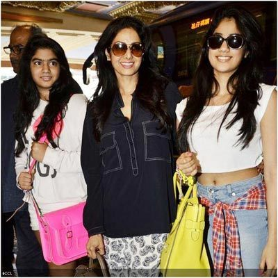 sri devi at international airport