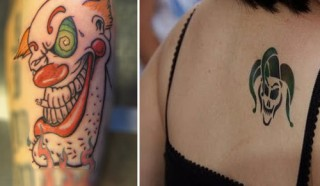 clown tattoos designs
