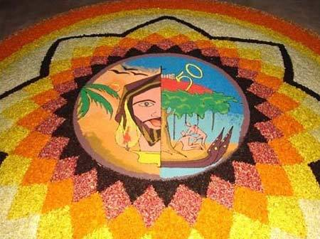 color rangoli designs