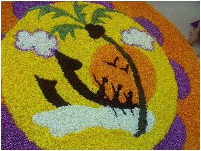 colored rangoli designs