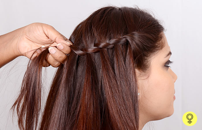 Cross The Back Section - Waterfall Braid