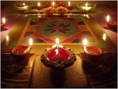 diwali rangoli designs with diya