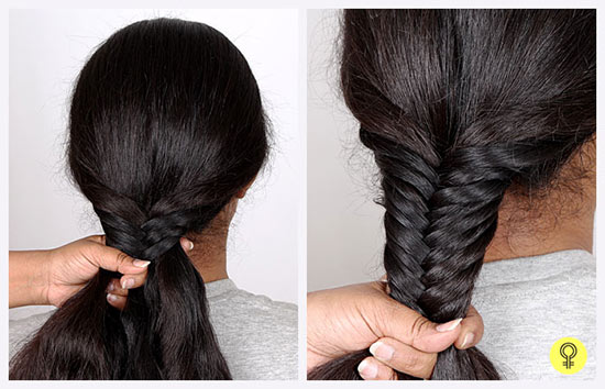 side choti hair style simple fishtail braid tutorial step by step picture guide 6955