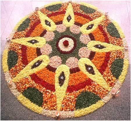 flower petals rangoli