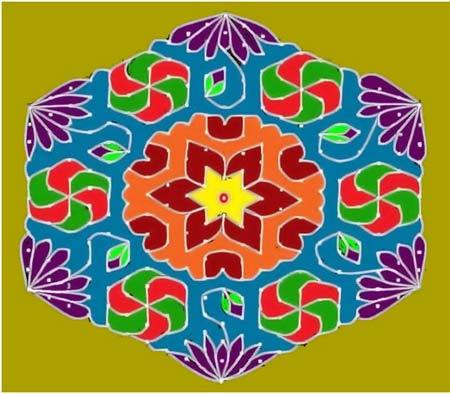 flower rangoli patterns designs