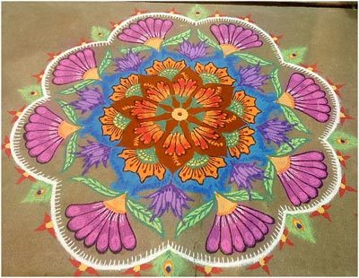 flower rangoli patterns