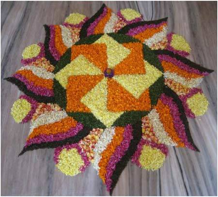 geometric shaped rangoli