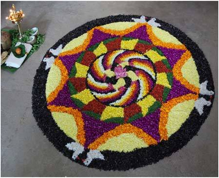 go green rangoli designs