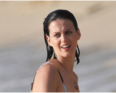 katy perry in the beach