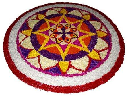 kerala flower rangoli designs