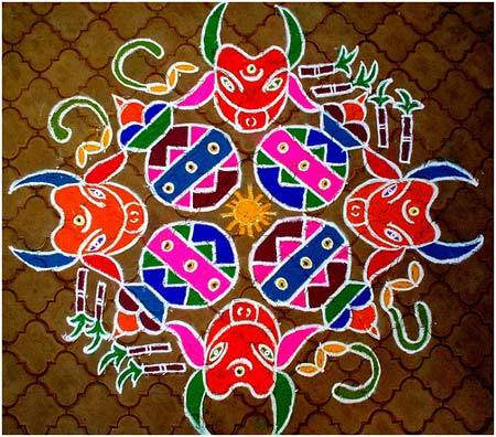 latest rangoli designs for sankranthi