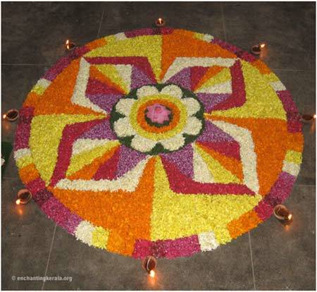 multicoloured rangoli