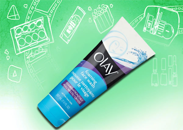 olay combination/oily foaming face wash