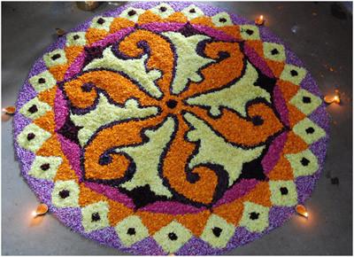 onam pookalam Diwali Rangoli Design 2019