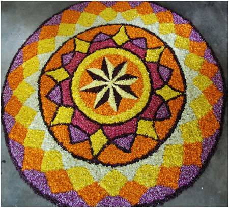 onam rangoli designs with theme