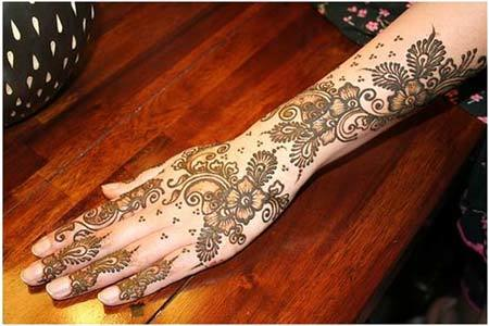 Mehndi Patterns For Arms : Top shaded mehndi designs to try in