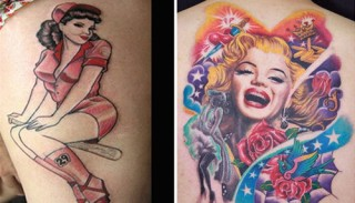 pin up girl tattoo design