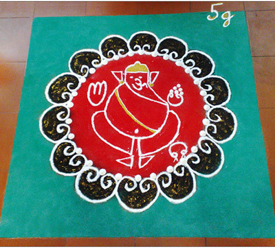 rangoli for ganesh chaturthi