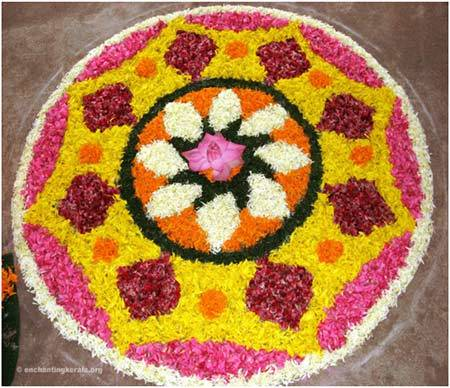rangoli round shaped