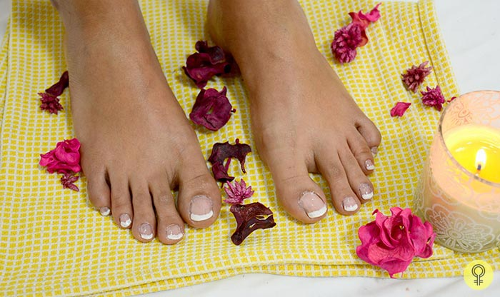 relaxing foot spa at home