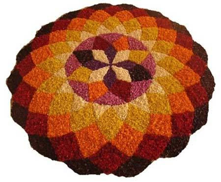 round shaped rangoli designs