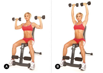 seated shoulder press barbell