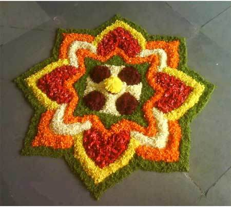 simple geometrical rangoli designs