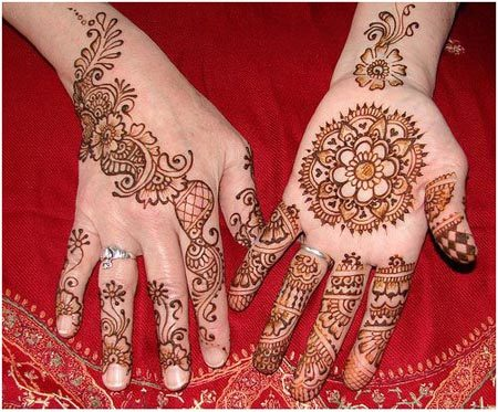 simple round mehndi designs for hands