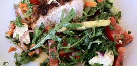spring chicken and blue cheese salad
