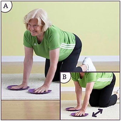 standing arm slide exercise