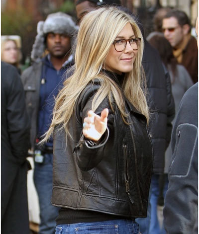 Jennifer Aniston In A Leather Jocket