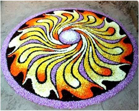 unique rangoli ideas