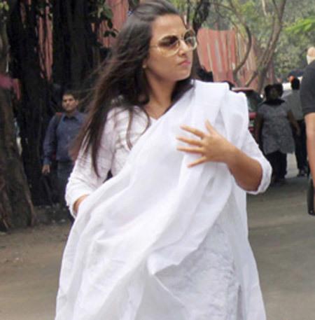 vidya balan at yash chopra funeral