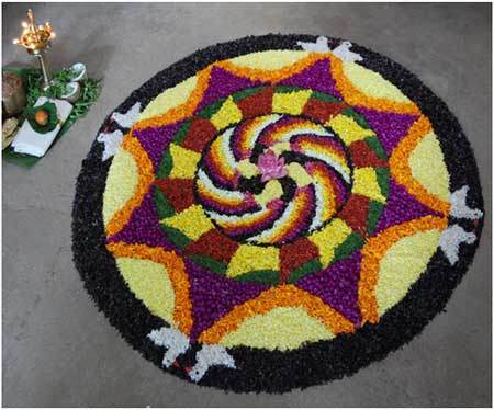 yellow rangoli design