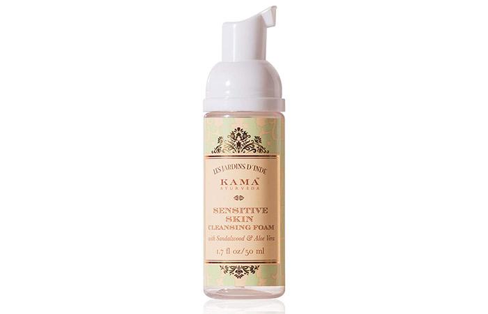 1. Kama Ayurveda Sensitive Skin Cleansing Foam