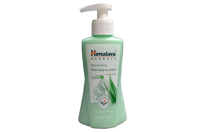 Himalaya Herbals Moisturizing Aloe Vera Face Wash - Aloe Vera Products