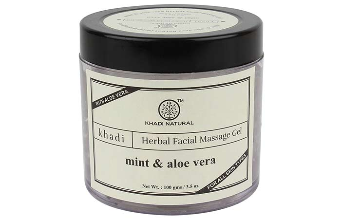 Khadi Natural Mint And Aloe Vera Face Massage Gel - Aloe Vera Products