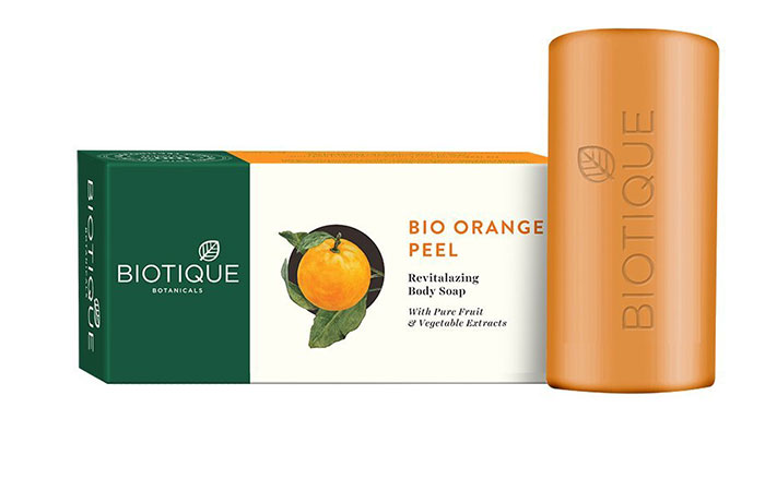 10. Biotique Bio Orange Peel Revitalizing Body Soap