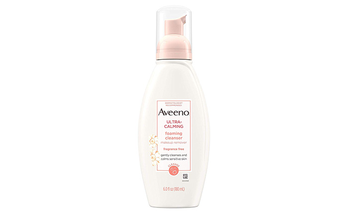 12. Aveeno Ultra-Calming Foaming Cleanser