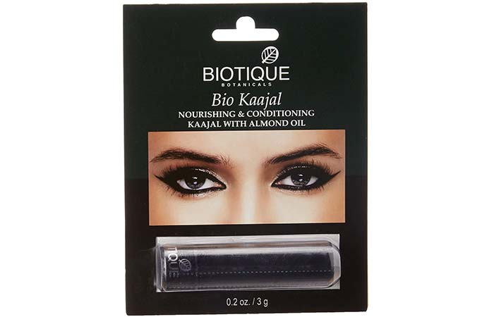Best Kajals and Kohl Pencils in India - Biotique Kajal Nourishing and Conditioning Eye Liner with Almond Oil