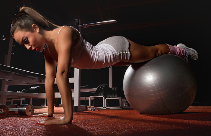 Triceps Exercises - Stability Ball Push-Up