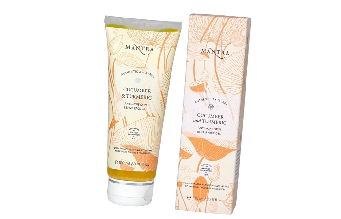 Acne And Pimple Creams - Mantra Cucumber & Turmeric Anti-Acne Skin Repair Face Gel