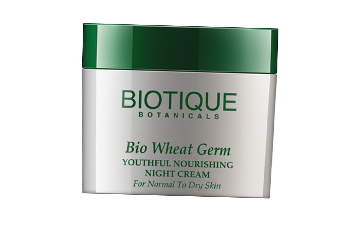 Face Creams For Dry Skin - Biotique Bio Wheat Germ Youthful Nourishing Night Cream