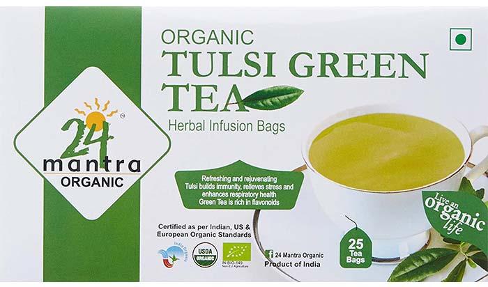 24 Mantra Tulsi Green Tea
