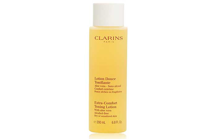 3. Clarins Extra Comfort Toning lotion
